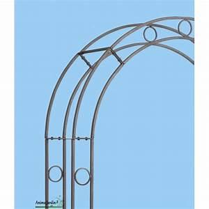 Arche Metal Pour Plante Grimpante : arche en m tal rosier avec leds d coration jardin en ~ Premium-room.com Idées de Décoration