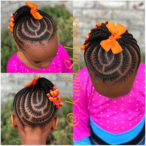 Image may contain: 1 person Braids for kids Girls