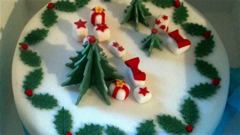 xmas cake decorations youtube