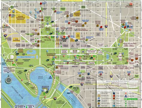 washington dc district  columbia map