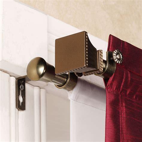 Luxury Double Curtain Rod Bracket Set With Classy Trumpet
