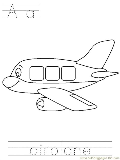 btrace airplane coloring page  air transport