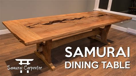woodworking building  dining table start  finish