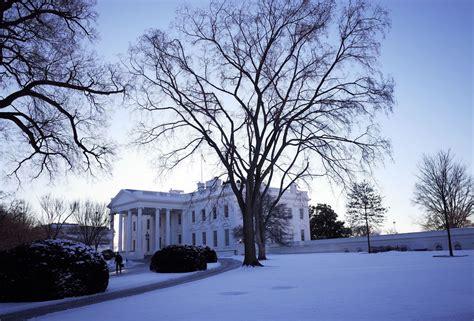 weather snow white house