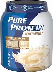 Pure Protein 100  Whey Protein Powder  Vanilla Cream  25g