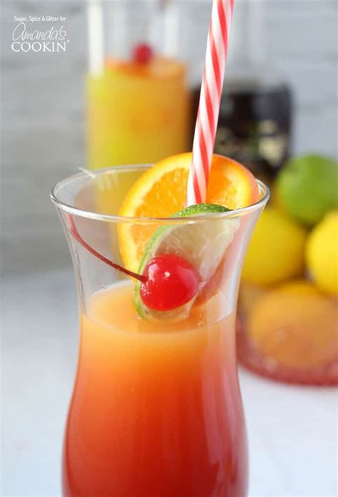 rum punch cocktail it s a caribbean sunset in a glass