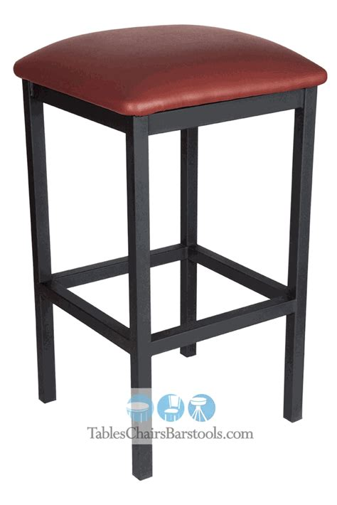 gladiator commercial grade square backless bar stool