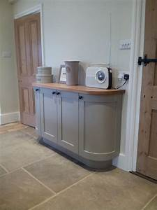 Curved sideboard in Farrow & Ball Light Grey no 17