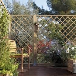 Treillage Bois Jardin Leroy Merlin by Brise Vue En Panneaux Treillis En Bois Naturel Leroy Merlin