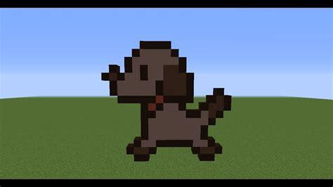 minecraft pixel art le chien youtube