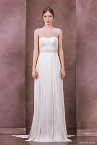 bhldn spring bridal jewel neckline embroidered organza With jewel neckline wedding dress