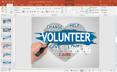 word powerpoint online animated word cloud powerpoint template