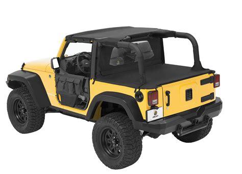 jeep wrangler 2 door soft top bestop duster windjammer with mesh for 07 09 jeep