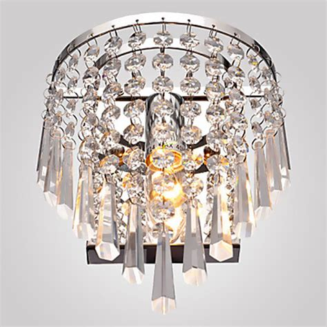 buy modern crystal chandelier wall light lighting fixture