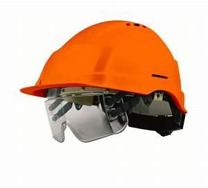 Casque De Chantier Personnalisé : casque de chantier iris orange avec lunettes de protection ~ Dailycaller-alerts.com Idées de Décoration