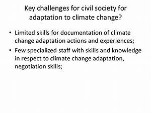Key challenges for civil society in advancing climate ...