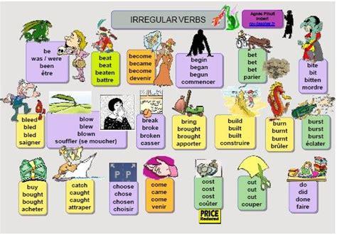 verbes irr 233 guliers anglais apprendre langues comment