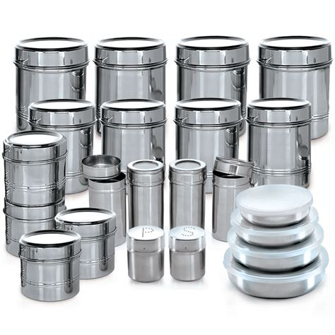 kitchen storage canisters sets buy branded 44 pcs stainless steel storage set at