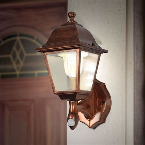 motion activated porch light the cordless motion activated porch light hammacher