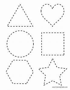 Free coloring pages of shapes tracing for Shape tracing templates