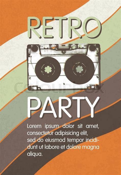 retro  party poster design disco stock vector