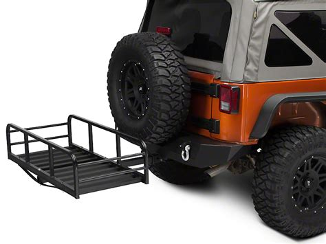 jeep cargo rack redrock 4x4 wrangler rear hitch cargo rack j101202 87 17