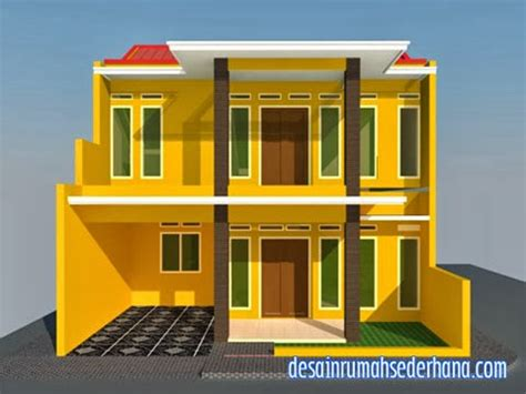 gambar rumah  lantai  hook kpr type  desain