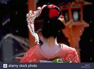 Painet hk2595 japanese geisha wearing traditional kimono ...