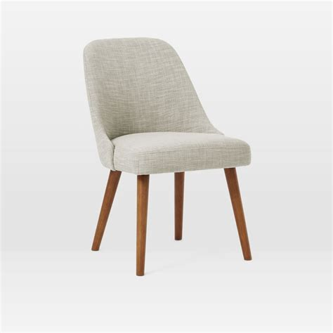 mid century upholstered dining chair wooden legs west
