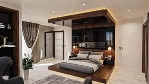 Modern, Master, Bedroom, Sleep, 3d, Model