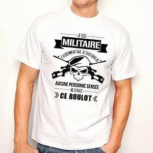 Tee Shirt Homme Humour : t shirt homme blanc militaire barjo ketshooop t shirts ~ Melissatoandfro.com Idées de Décoration