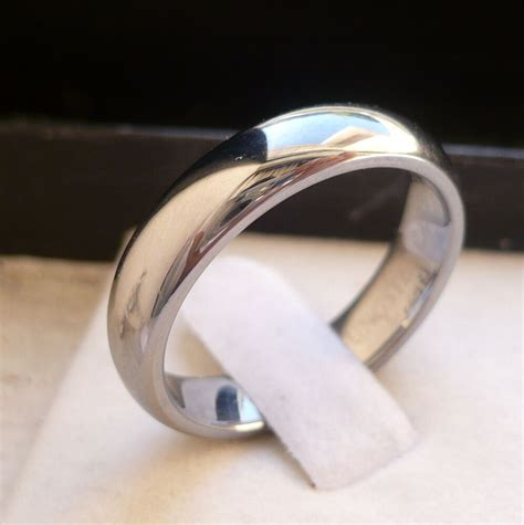4mm s tungsten carbide plain wedding band ring size 5 ebay