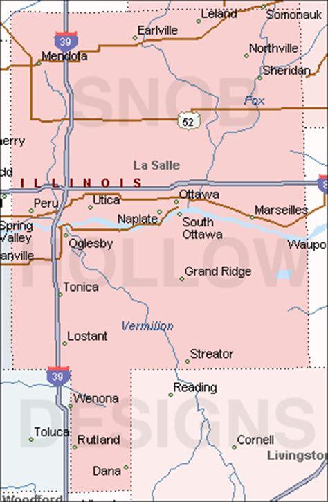 la salle county illinois color map