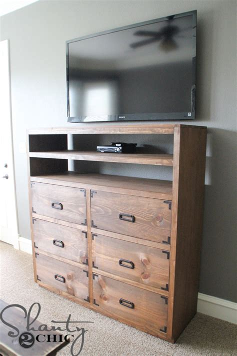 diy media storage dresser shanty  chic