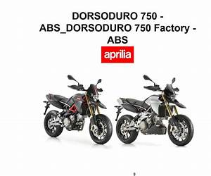 Aprilia Dorsoduro 750 Abs 2012 Owner U2019s Manual