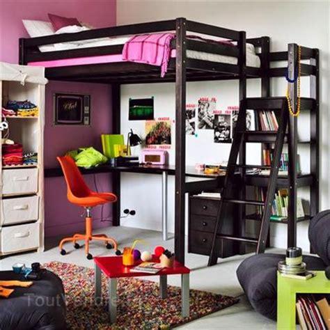 lit mezzanine bureau pas cher lit 2 personnes mezzanine
