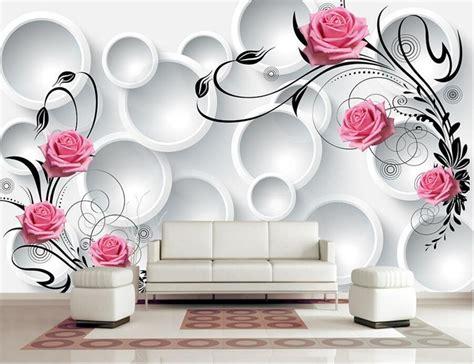 custom modern wallpaper designd circle rose papel de
