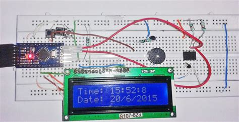 Arduino Based Digital Clock With Alarm
