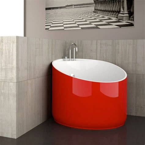 cool mini bathtub  fiberglass  small spaces glass