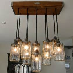 esszimmer le handcrafted 14 jar pendant light chandelier w rustic