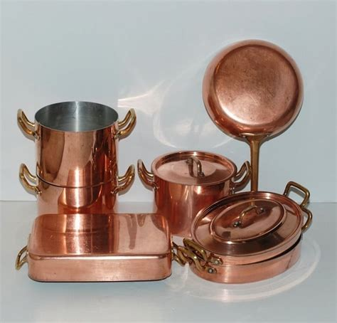 vintage french copper cookware set