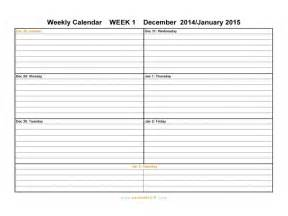 Free Printable Weekly Appointment Calendar