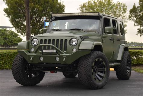 green jeep spotlight custom matte green jeep wrangler