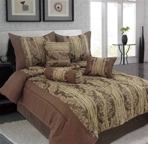 jacquard comforter set queen 7 floral striped jacquard comforter set ebay
