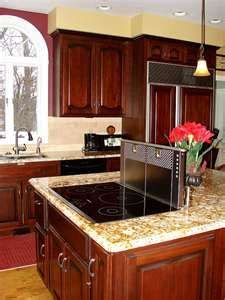 kitchen island with range top 17 best images about island cooktop on maple 8263