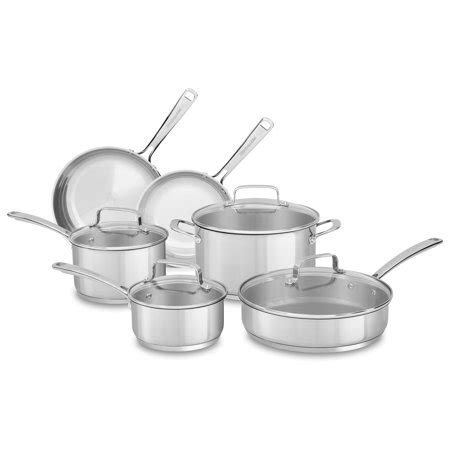 kitchenaid stainless steel  piece cookware set