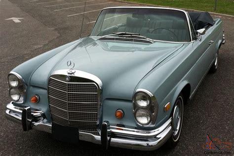 1969 Mercedesbenz 280se Cabriolet Excellent, Restored