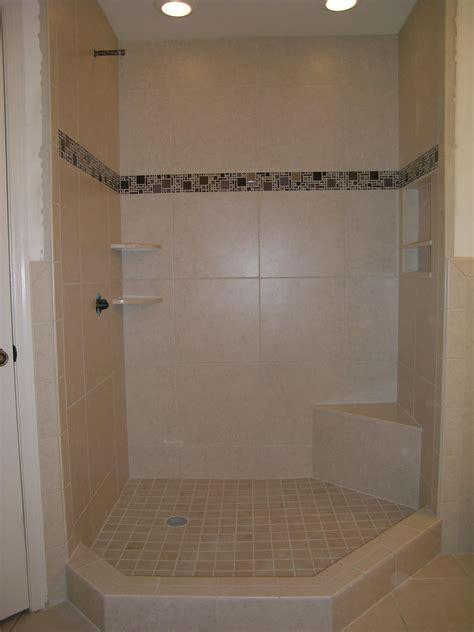 Mosaic Border Tiles Bathrooms by 20 Quot X20 Quot Porcelain Tile With Glass Mosaic Border My