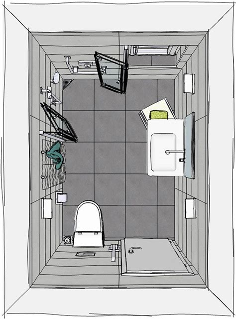 Kleines Bad Fliesengröße by Grundriss Kleines Badezimmer Mit Wegfaltbarer Dusche