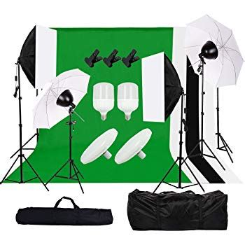 Kit Illuminazione Fotografica Craphy Softbox Kit Studio Kit Illuminazione Continuo Con